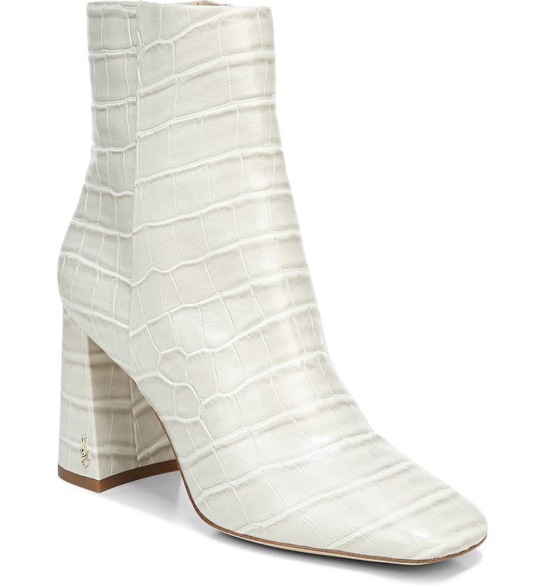 SAM EDELMAN Codie Square Toe Bootie, Main, color, MODERN IVORY LEATHER