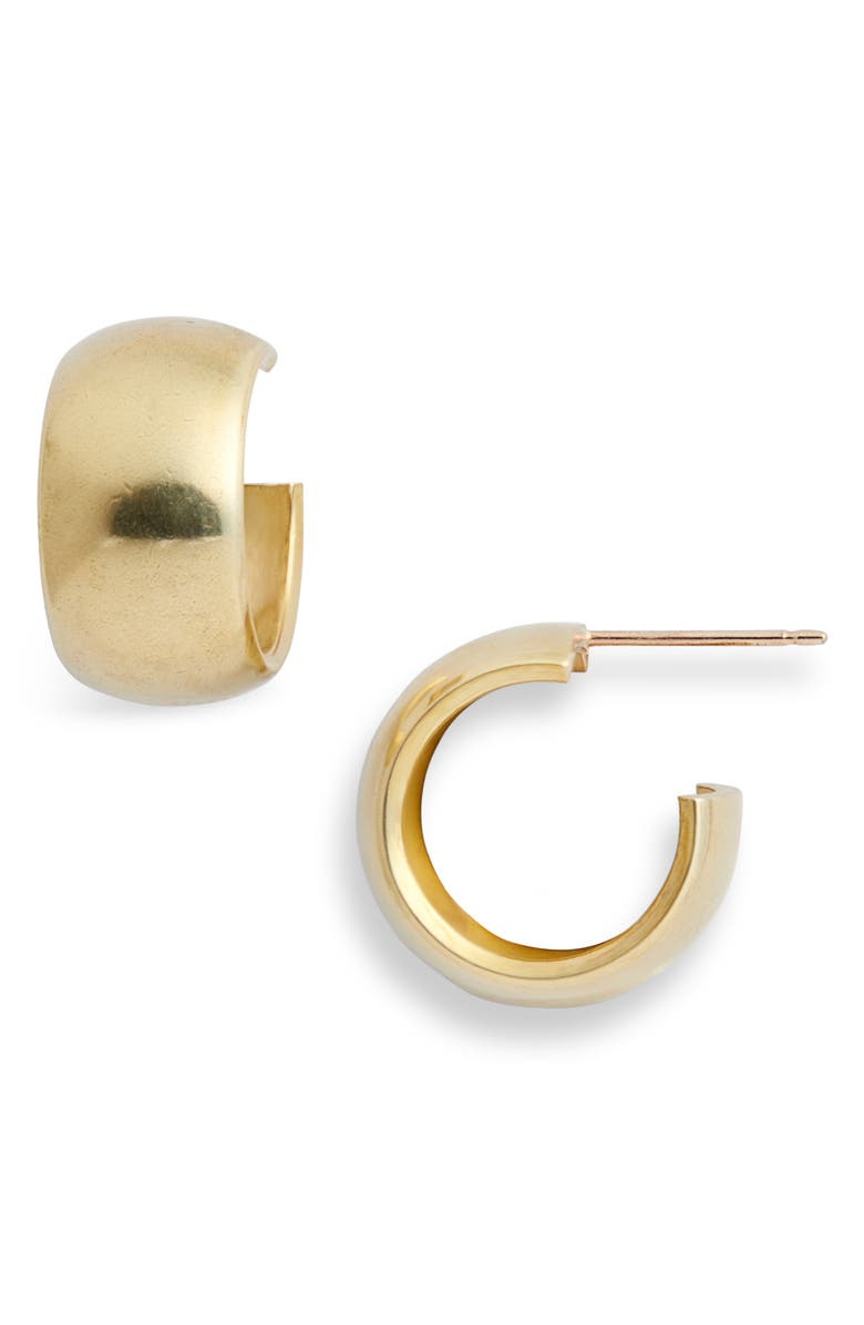 LAURA LOMBARDI Luna Hoop Earrings, Main, color, BRASS