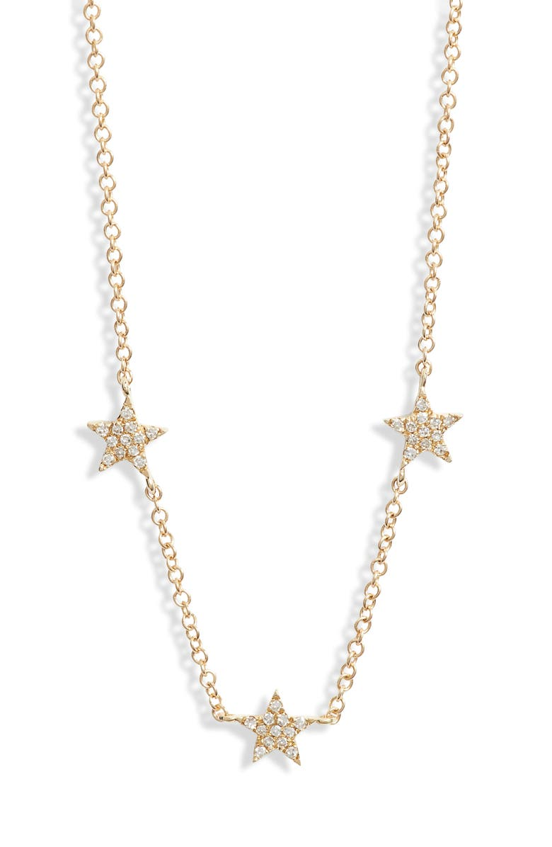 EF COLLECTION Three-Star Diamond Choker Necklace, Main, color, 710