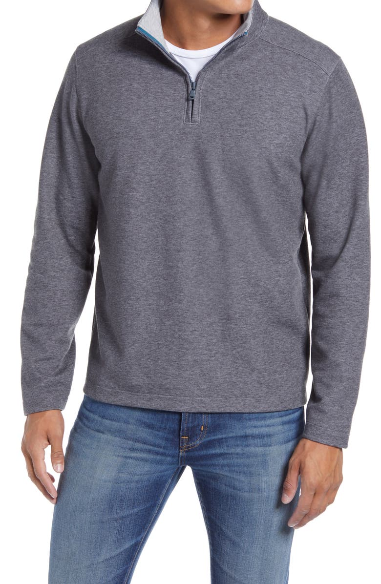 BONOBOS Daily Grind Half Zip Pullover, Main, color, CHARCOAL