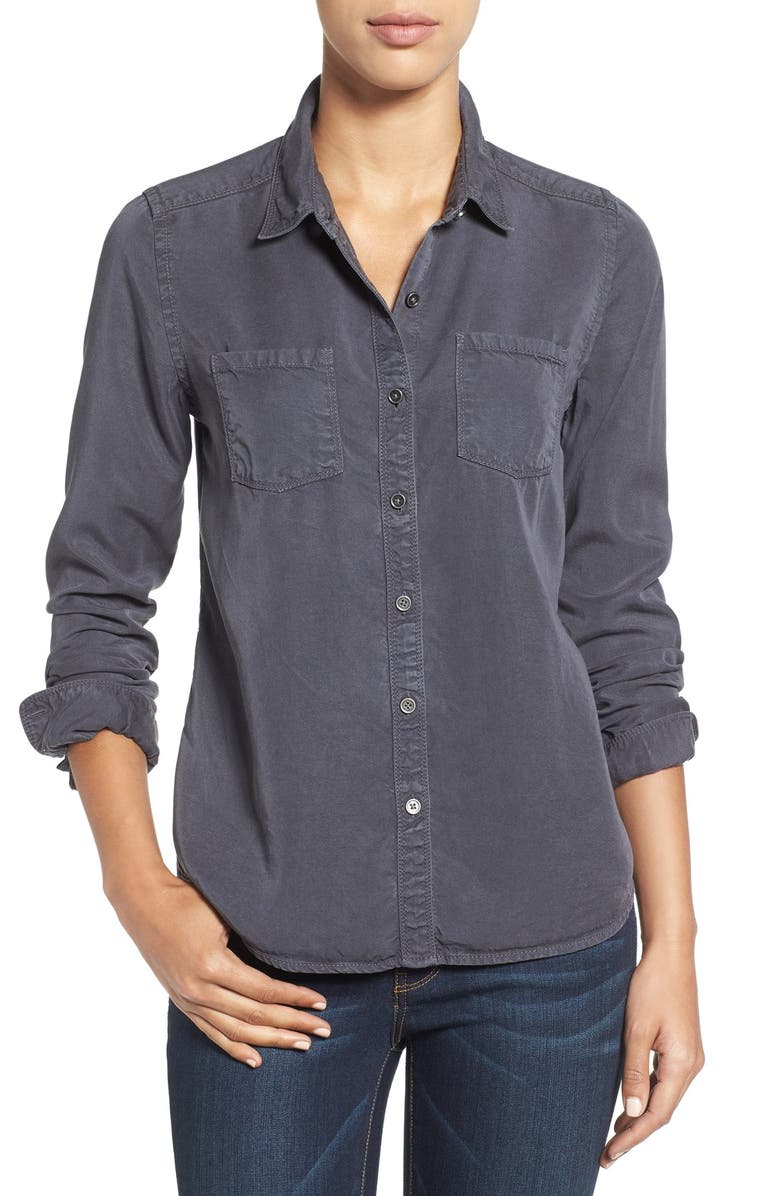 CASLON<SUP>®</SUP> Long Sleeve Denim Shirt, Main, color, 030