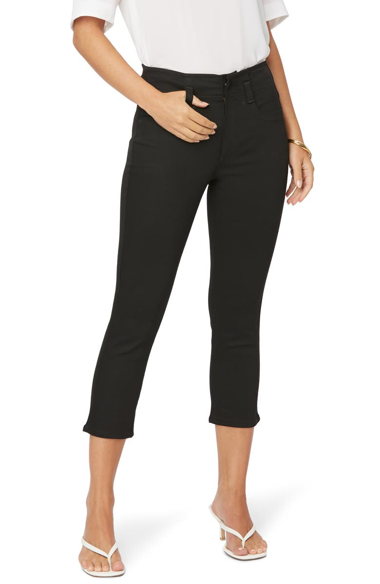 NYDJ Ami High Waist Capri Jeans, Main, color, BLACK RINSE