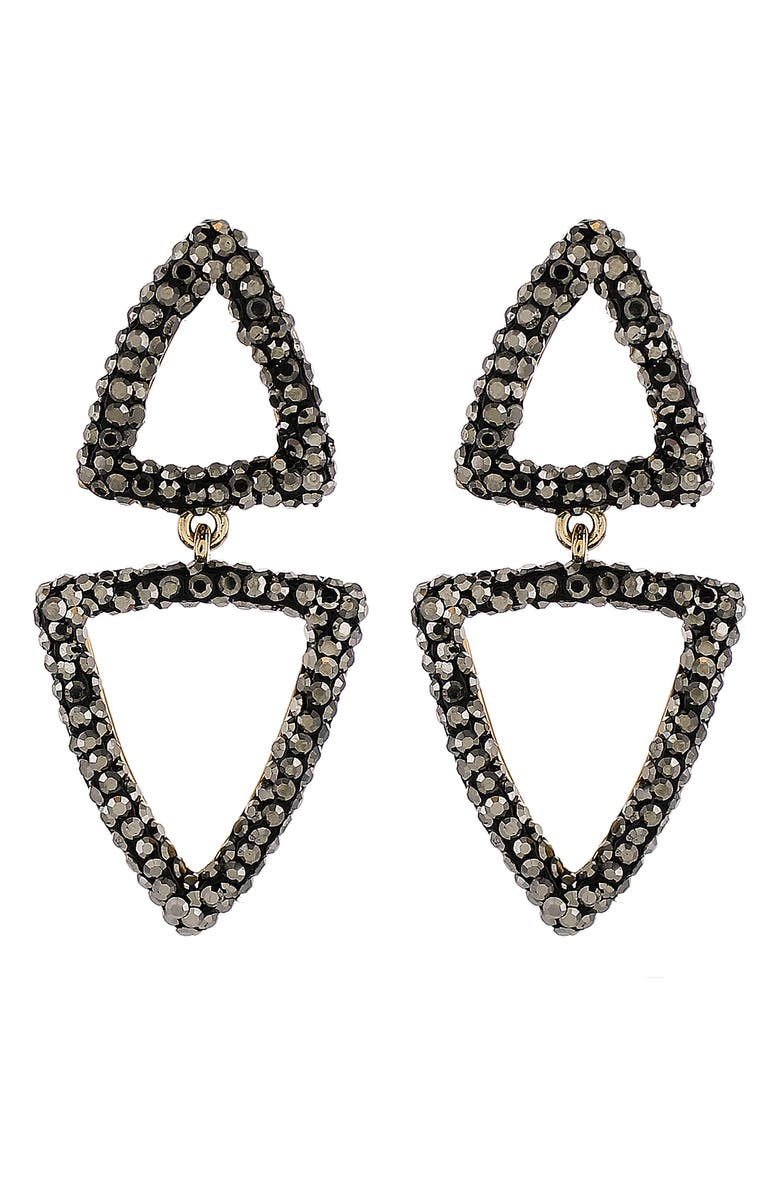 PANACEA Luxe Double Triangle Drop Earrings, Main, color, 001