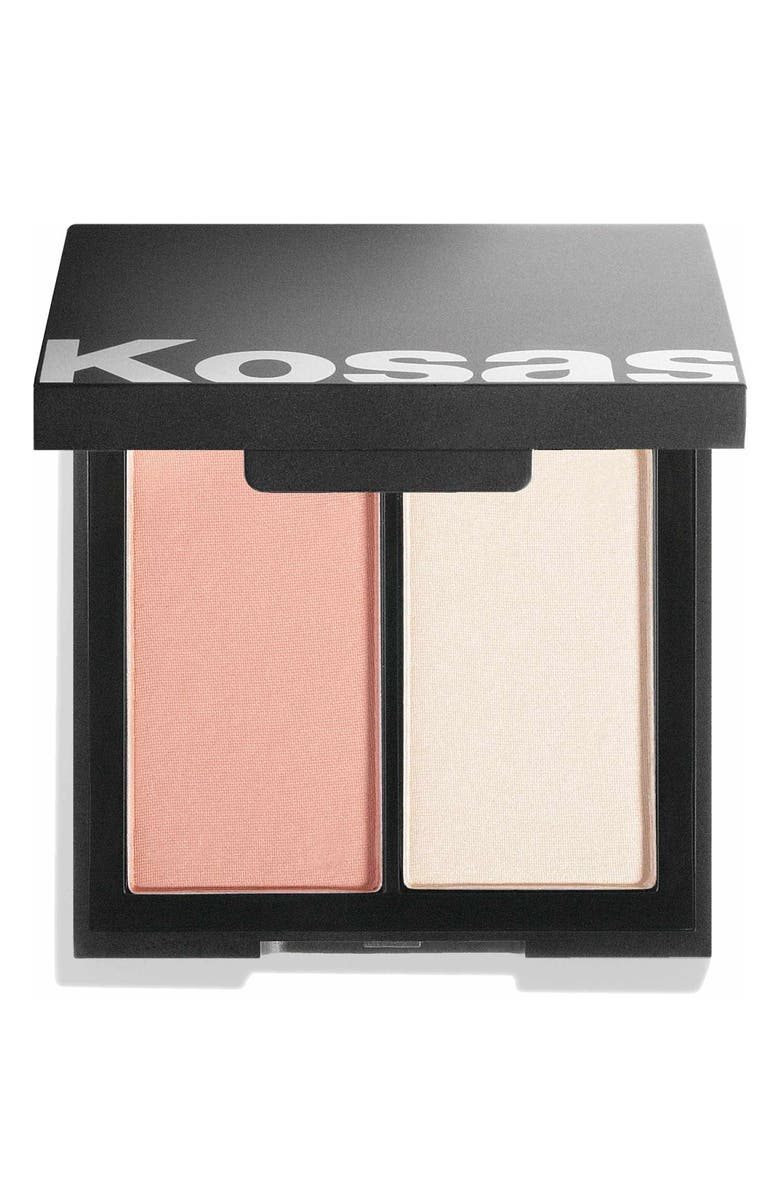 KOSAS Color & Light Intensity Powder Blush & Highlighter Palette, Main, color, CONTRACHROMA HIGH INTENSITY