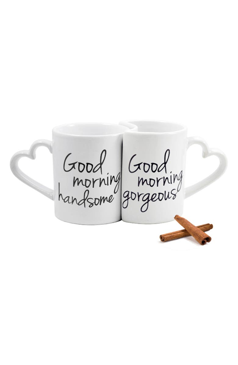 CATHY'S CONCEPTS 'Good Morning' Ceramic Coffee Mugs, Main, color, 100