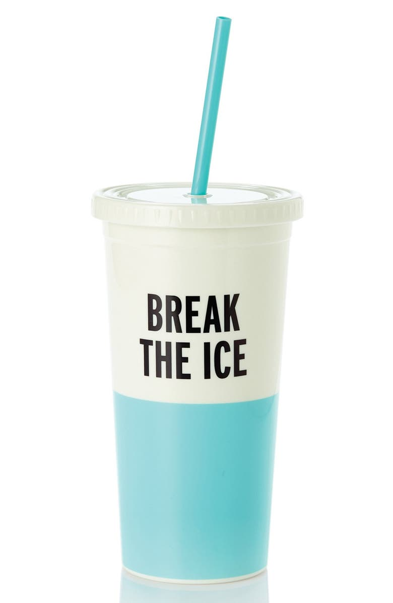 KATE SPADE NEW YORK 'break the ice' insulated tumbler, Main, color, Blue