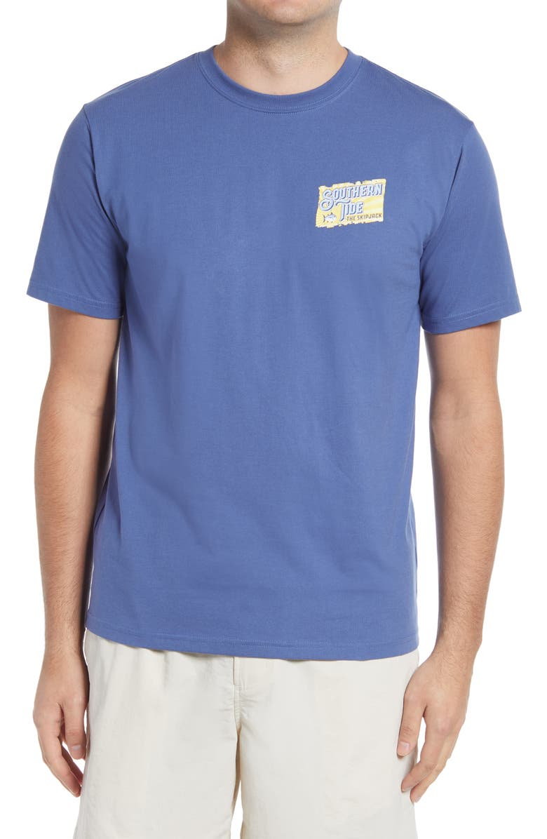 SOUTHERN TIDE SJ Rays Graphic Tee, Main, color, OCEAN CHANNEL
