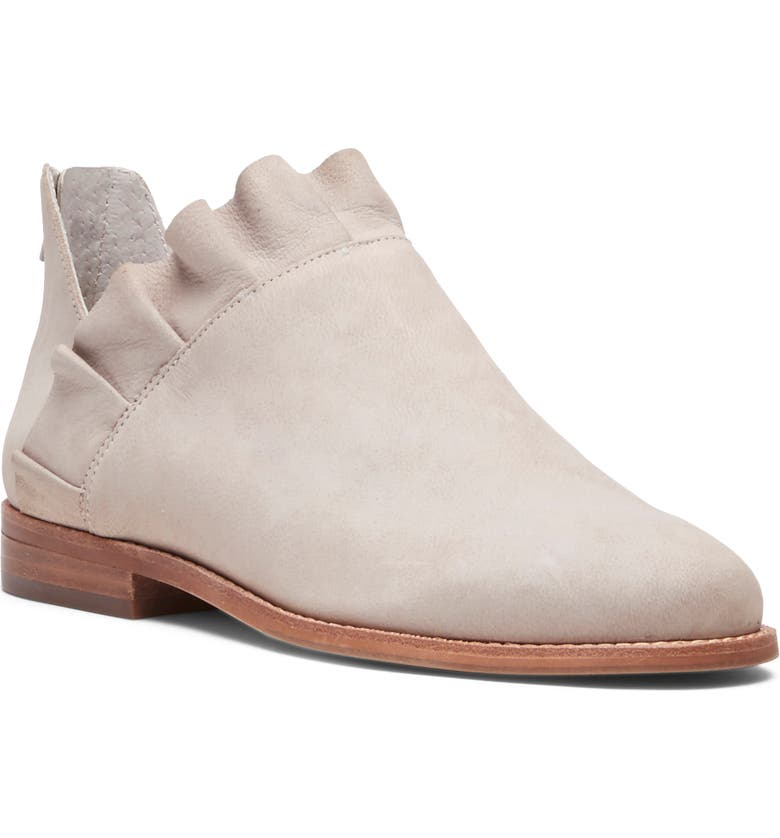 SOLE SOCIETY Brinya Ruffle Bootie, Main, color, SMOKEY TAUPE LEATHER