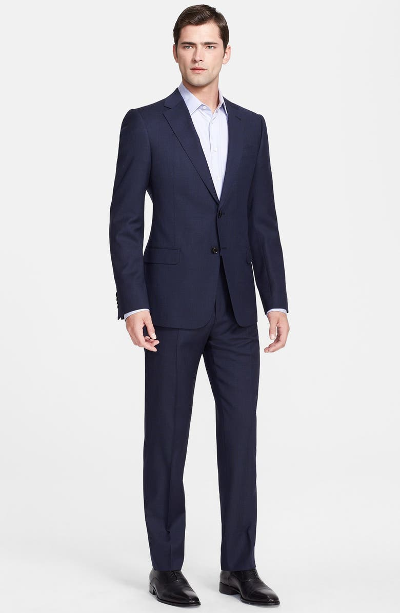 EMPORIO ARMANI Armani Collezioni 'Sartorial' Navy Wool Suit, Main, color, 410