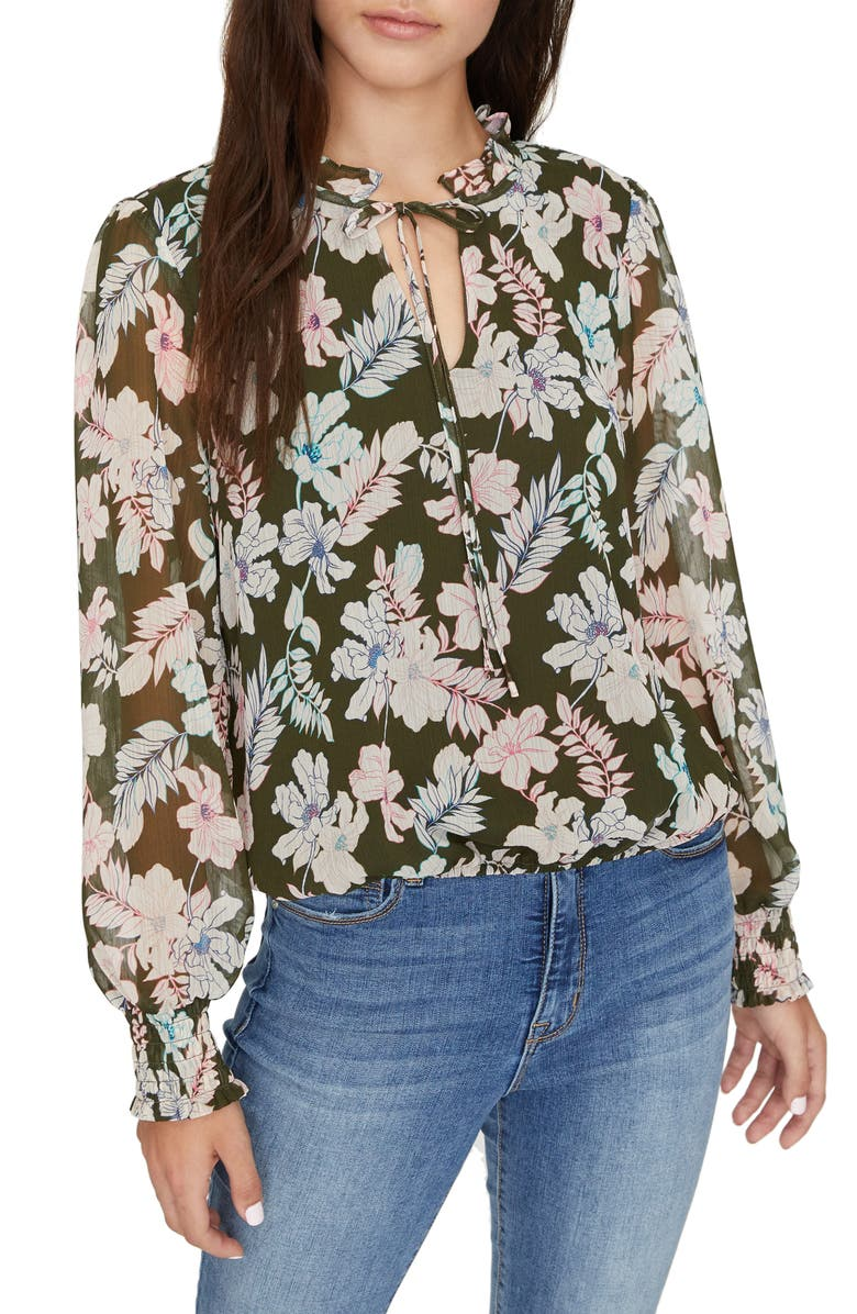 SANCTUARY Love in Bloom Long Sleeve Top, Main, color, 300