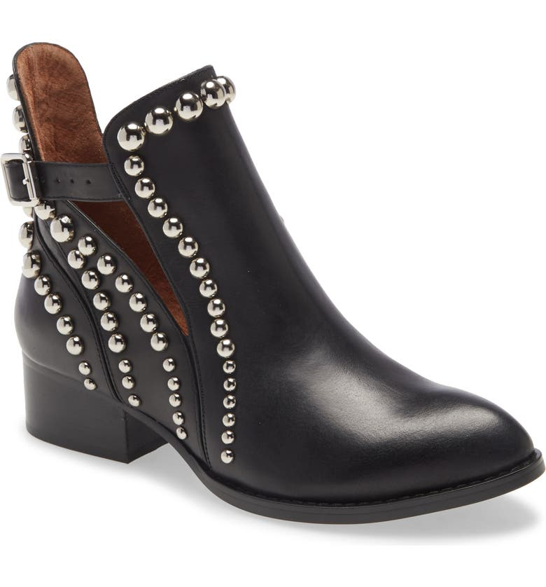 JEFFREY CAMPBELL Rylance Studded Bootie, Main, color, BLACK SILVER