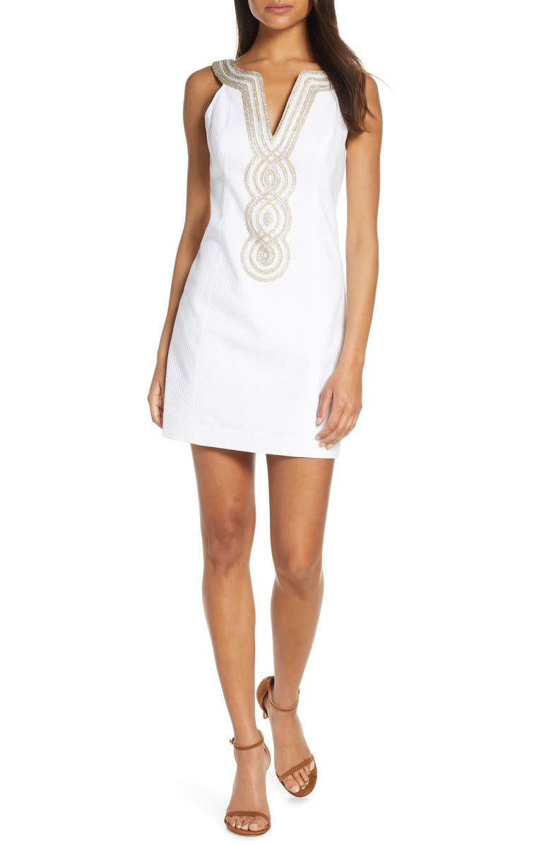 LILLY PULITZER<SUP>®</SUP> Valli Sheath Dress, Main, color, RESORT WHITE