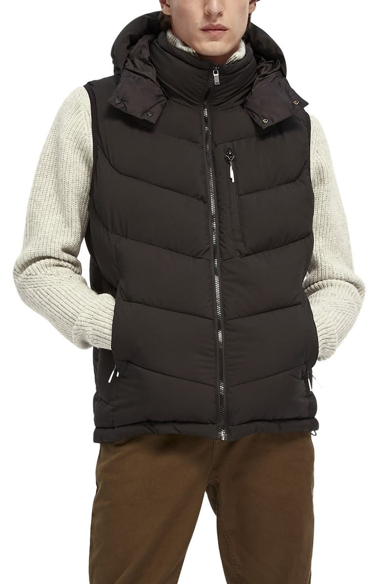 SCOTCH & SODA Quilted Vest, Main, color, 001