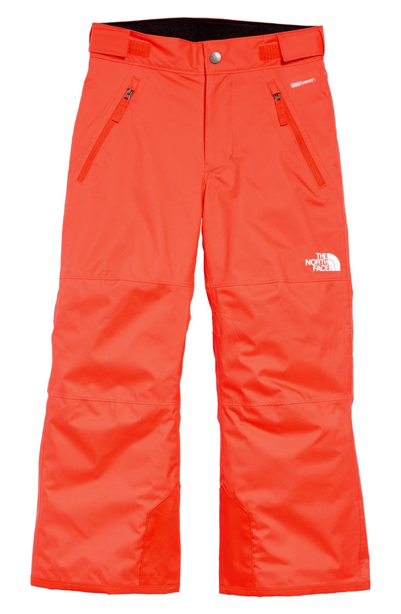 THE NORTH FACE Kids' 'Freedom' Waterproof Heatseeker<sup>™</sup> Insulated Snow Pants, Main, color, FLARE