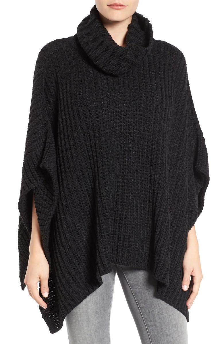 STEVE MADDEN Turtleneck Poncho, Main, color, 002