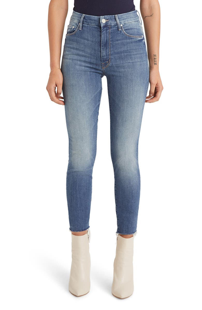 MOTHER The Looker Frayed Ankle Jeans, Main, color, 401