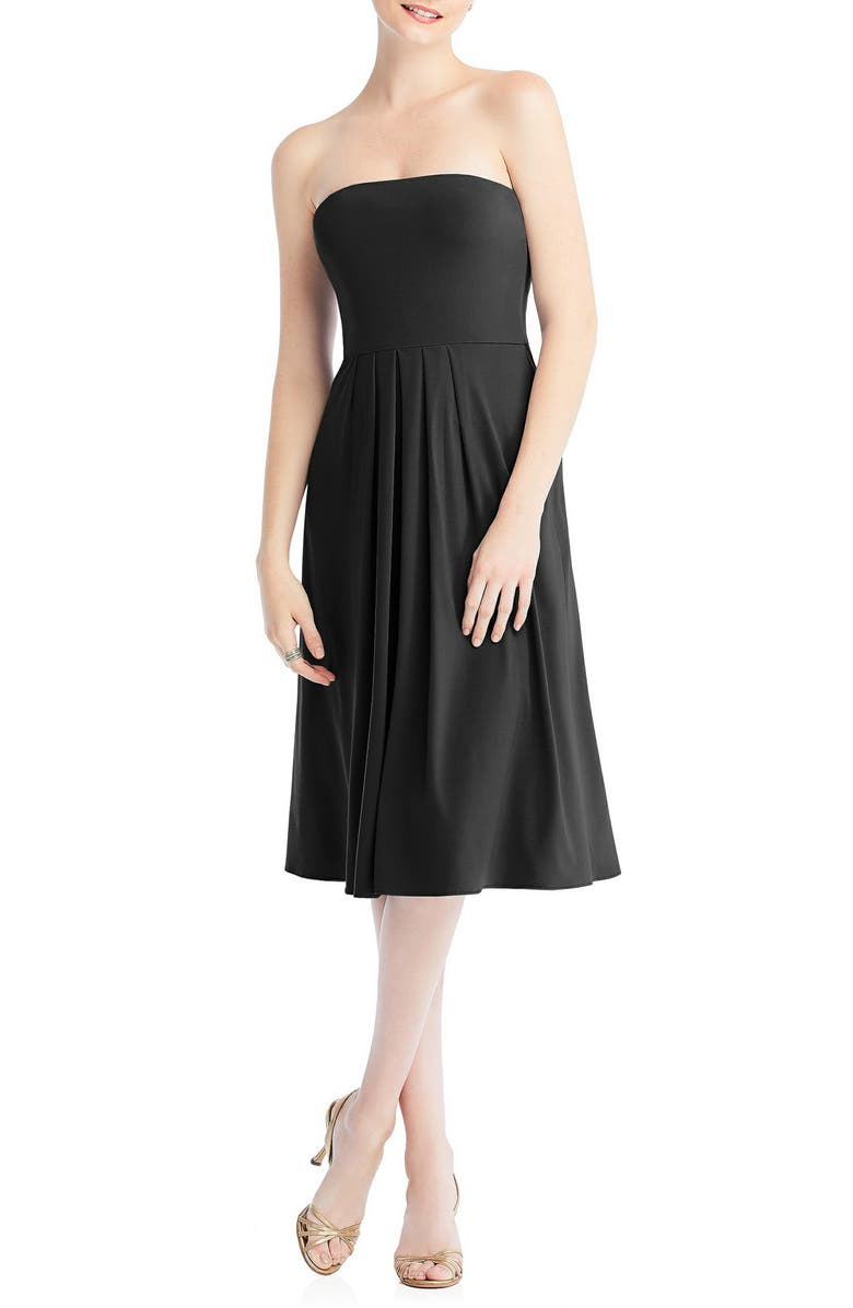DESSY COLLECTION Multi-Way Loop Fit & Flare Dress, Main, color, BLACK