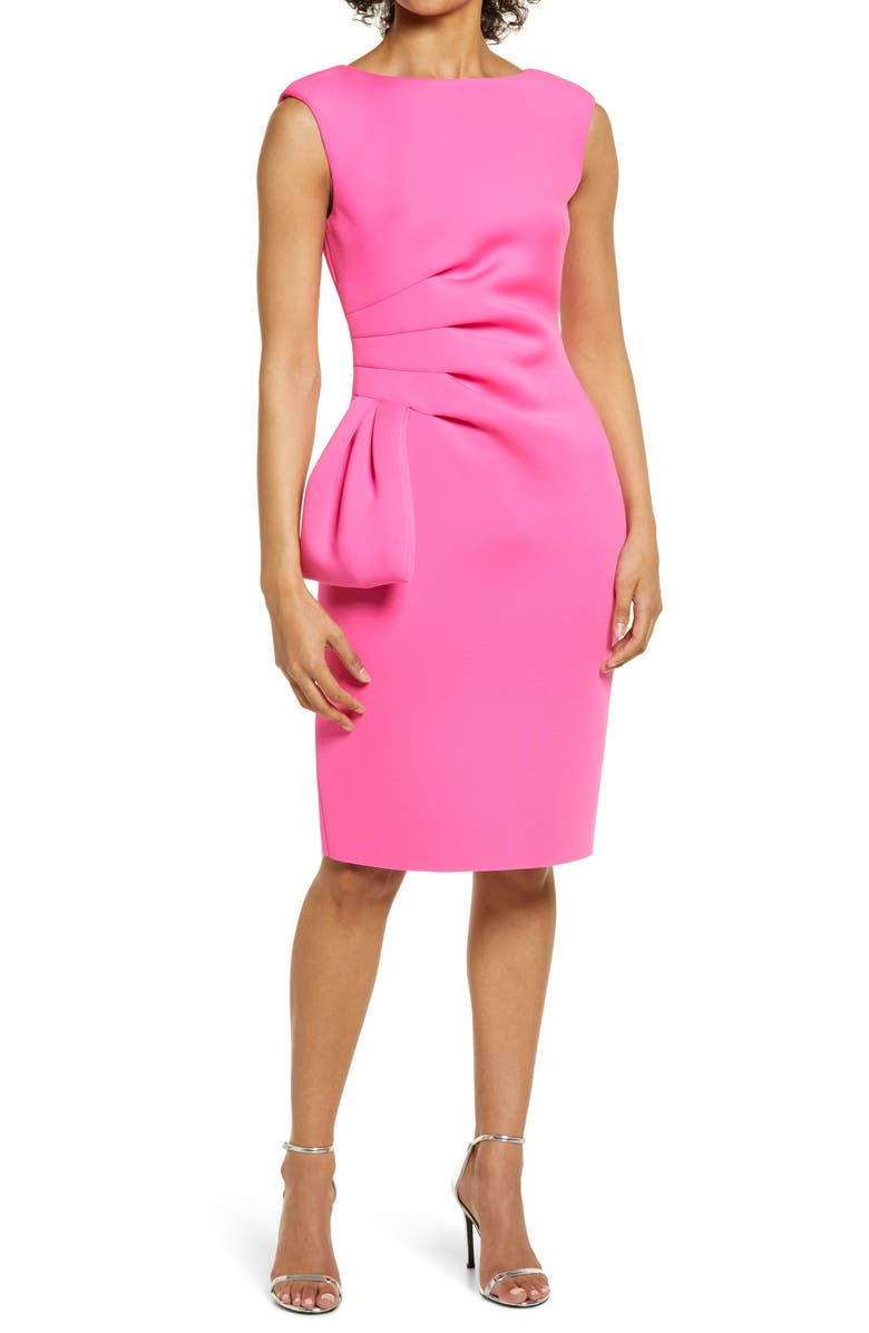 ELIZA J Ruffle Sheath Dress, Main, color, HOT PINK