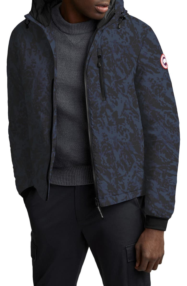 CANADA GOOSE Lodge Slim Fit Packable 750 Fill Power Down Hooded Jacket, Main, color, ARL TNDRA NAVY