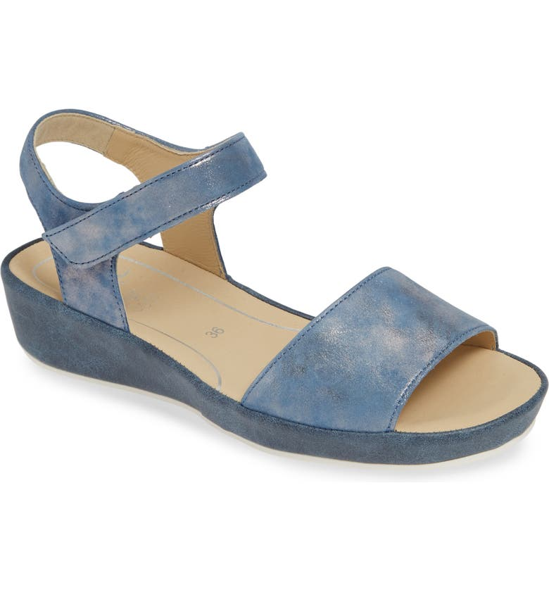 ARA Catalina Sandal, Main, color, SKY GLAMOUR LEATHER