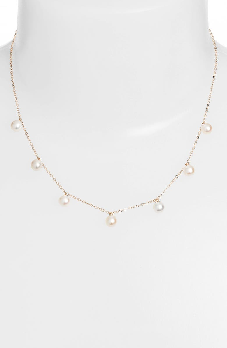 POPPY FINCH Pearl Collar Necklace, Main, color, 700