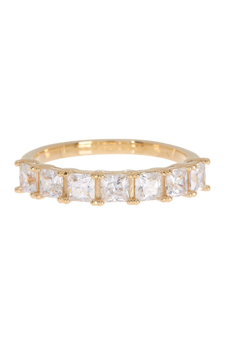 NADRI Evie Square CZ Stackable Ring - Size 6, Main, color, GOLD