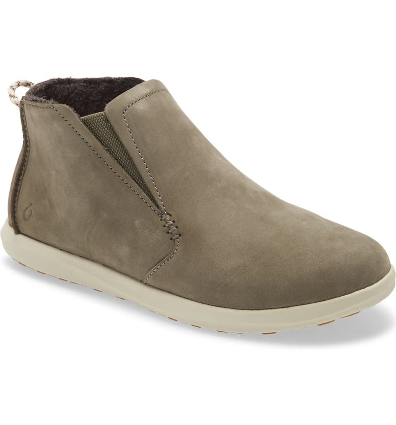 OLUKAI Hawai'iloa Manu Hope Sneaker Boot, Main, color, DUSTY OLIVE/ CLOUD LEATHER