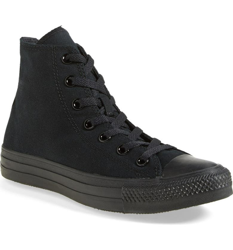 CONVERSE Chuck Taylor<sup>®</sup> All Star<sup>®</sup> High Top Sneaker, Main, color, BLACK MONOCHROME