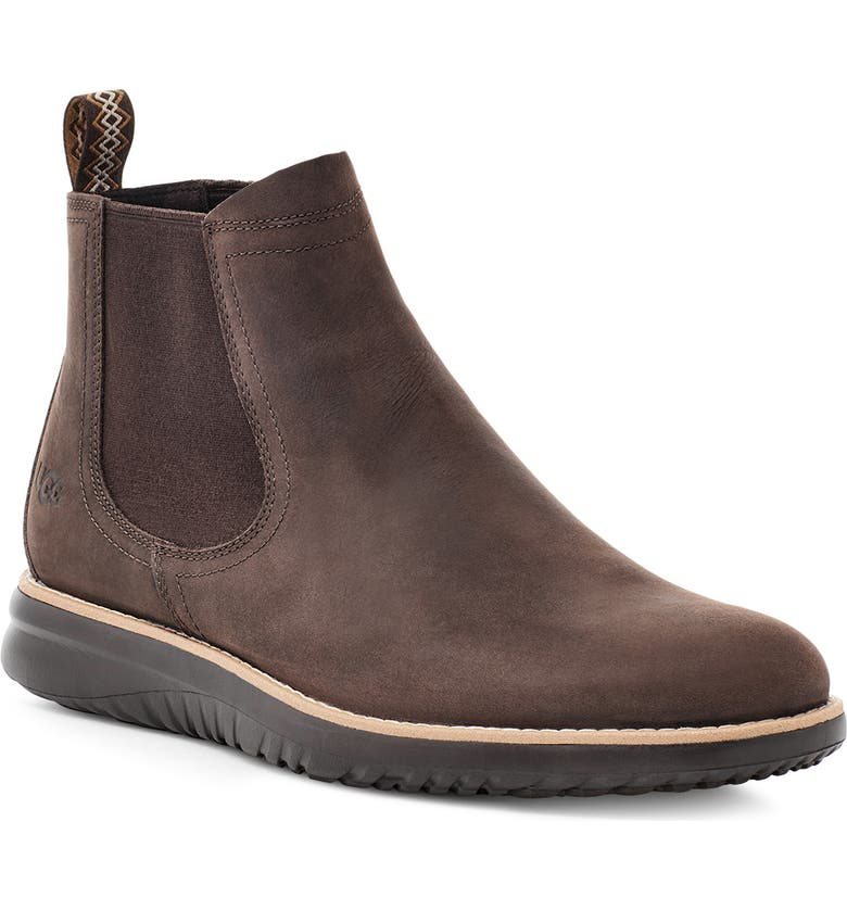 UGG<SUP>®</SUP> Union Waterproof Chelsea Boot, Main, color, GRIZZLY LEATHER