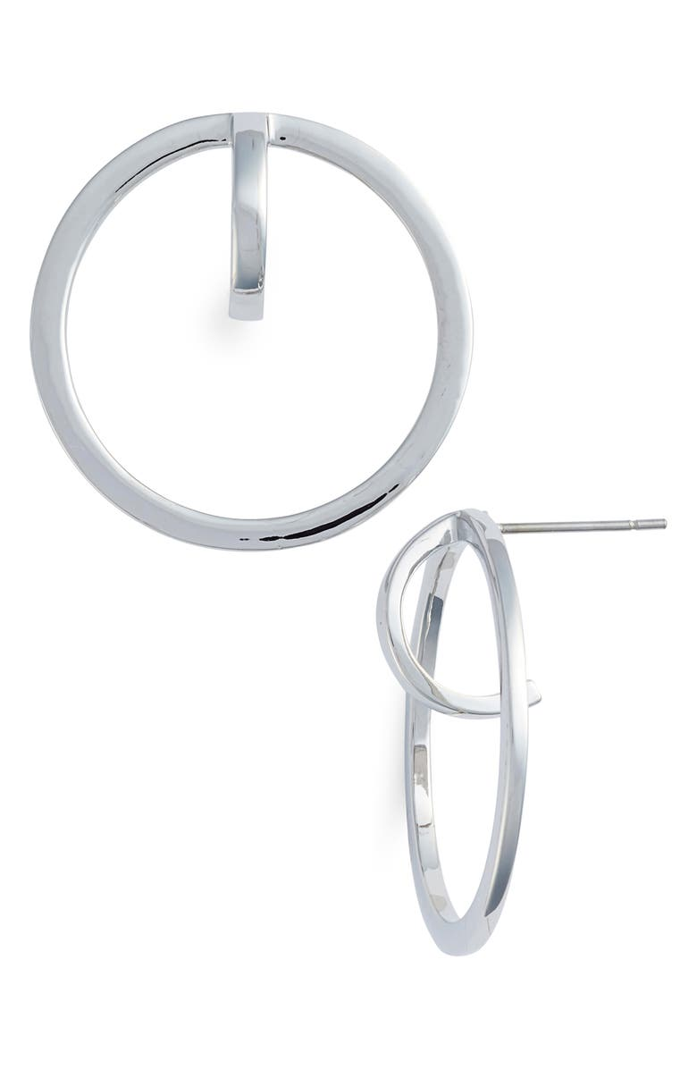VINCE CAMUTO Polished Orbital Earrings, Main, color, Silver