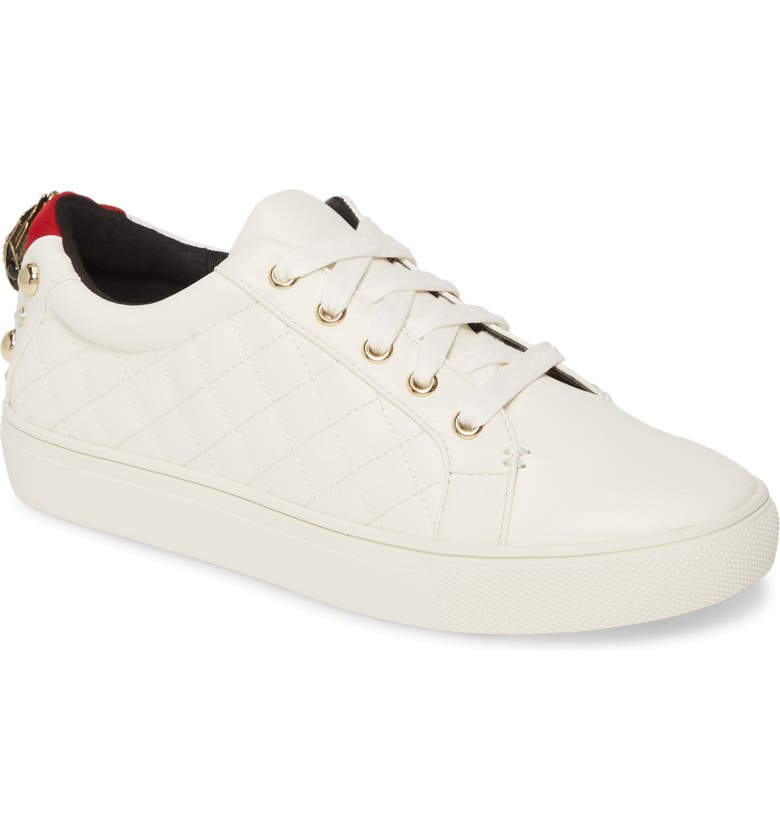 KURT GEIGER LONDON Ludo Sneaker, Main, color, WHITE/ WHITE LEATHER