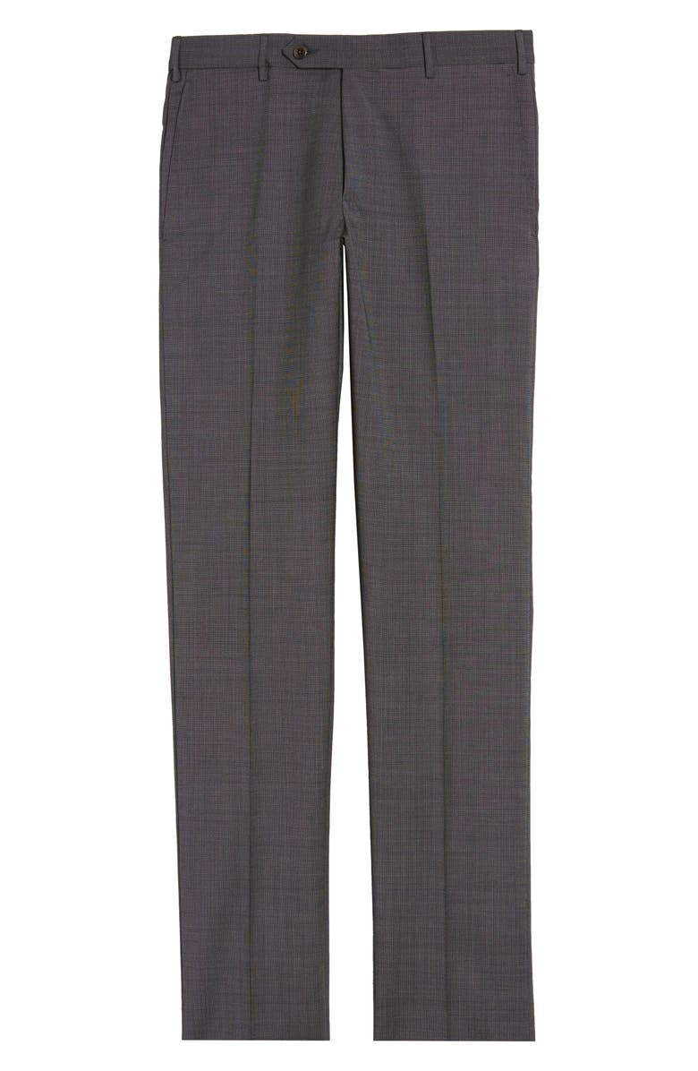 ZANELLA Parker Flat Front Wool Trousers, Main, color, 030