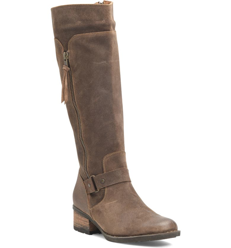 BØRN Molema Knee High Boot, Main, color, NATURAL DISTRESSED SUEDE