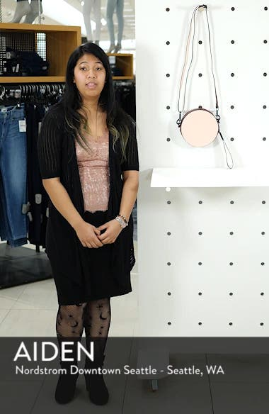 Faux Leather Colorblock Canteen Crossbody Bag, sales video thumbnail