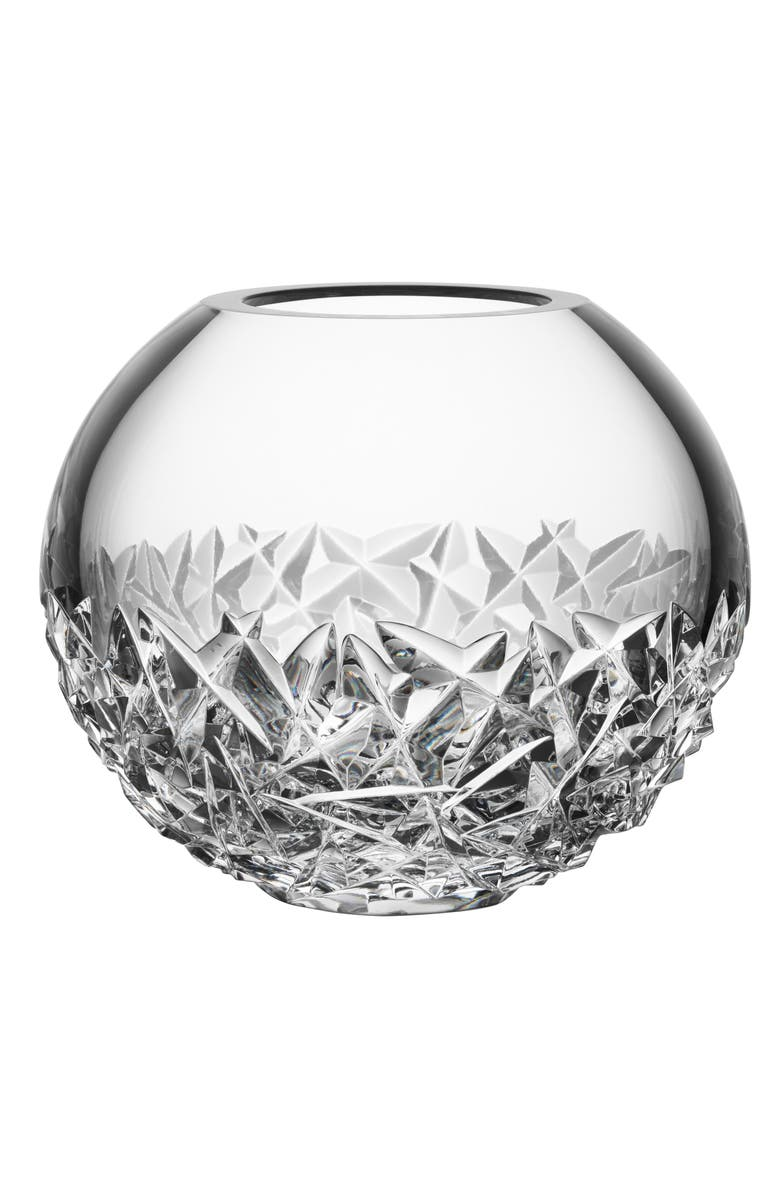 ORREFORS Carat Lead Crystal Globe Vase, Main, color, 100