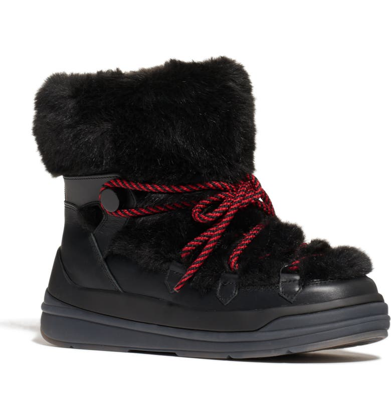 MONCLER Insolux Faux Fur Lined Waterproof Snow Boot, Main, color, 001