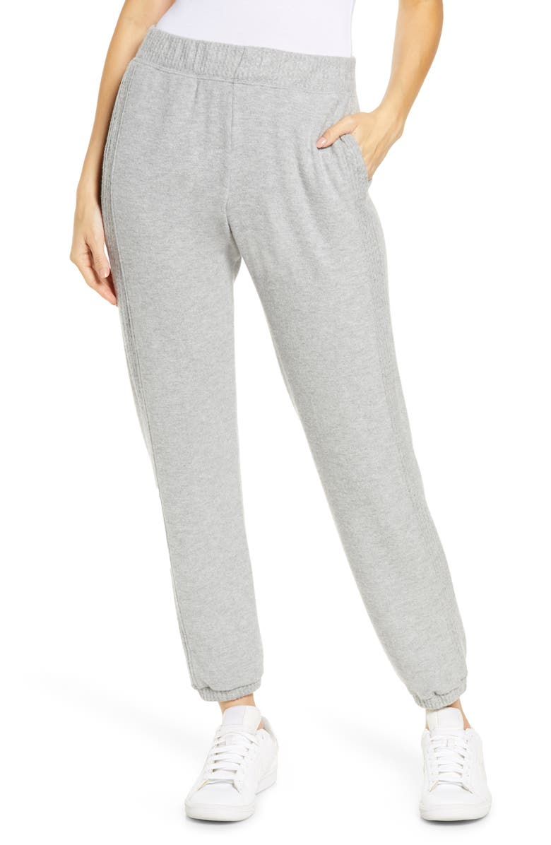 PROJECT SOCIAL T Side Stripe Joggers, Main, color, HEATHER GREY