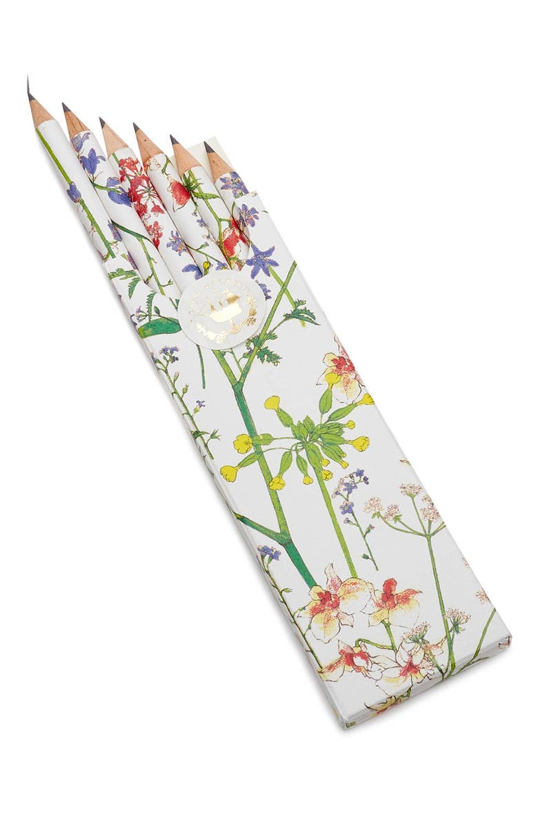 FLOWERS OF LIBERTY Floral Print Pencils, Main, color, THEODORA
