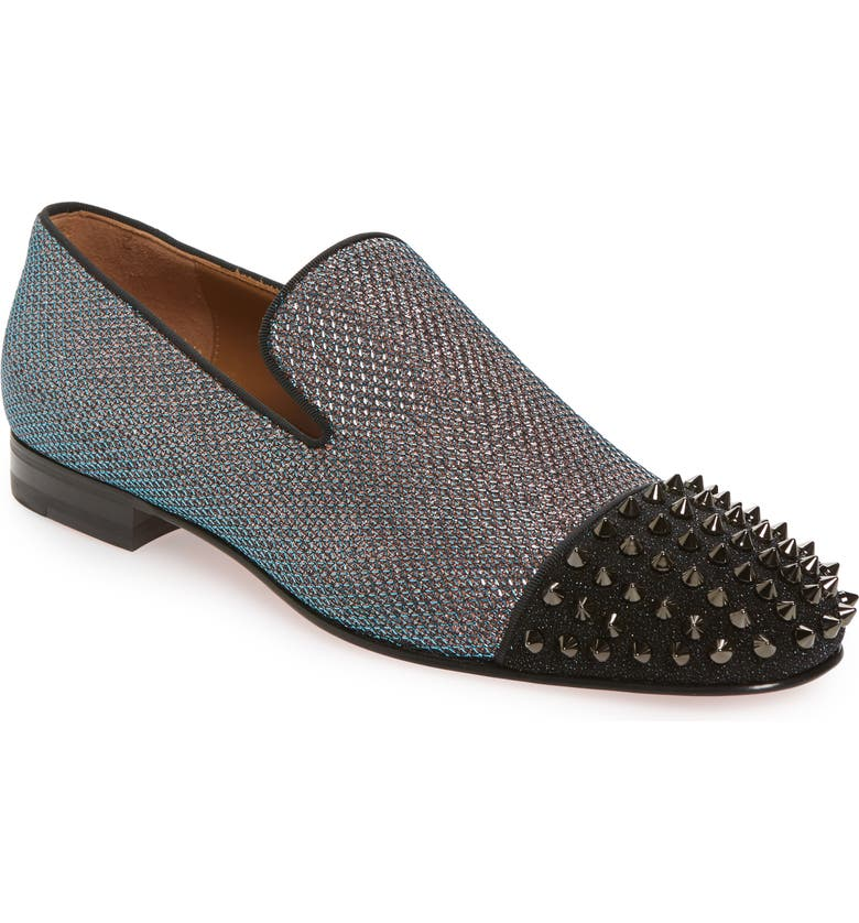 CHRISTIAN LOUBOUTIN Spooky Spiked Venetian Loafer, Main, color, 960