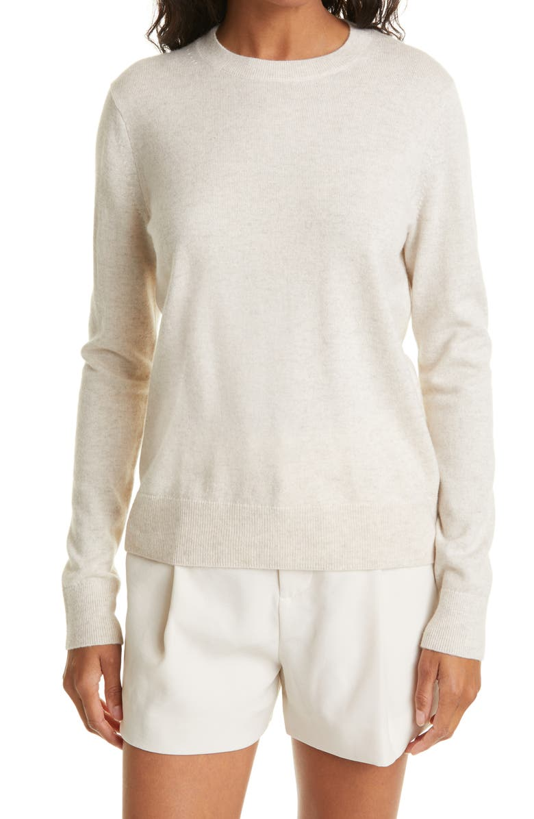 VINCE Easy Fit Crewneck Wool & Cashmere Sweater, Main, color, CREAM
