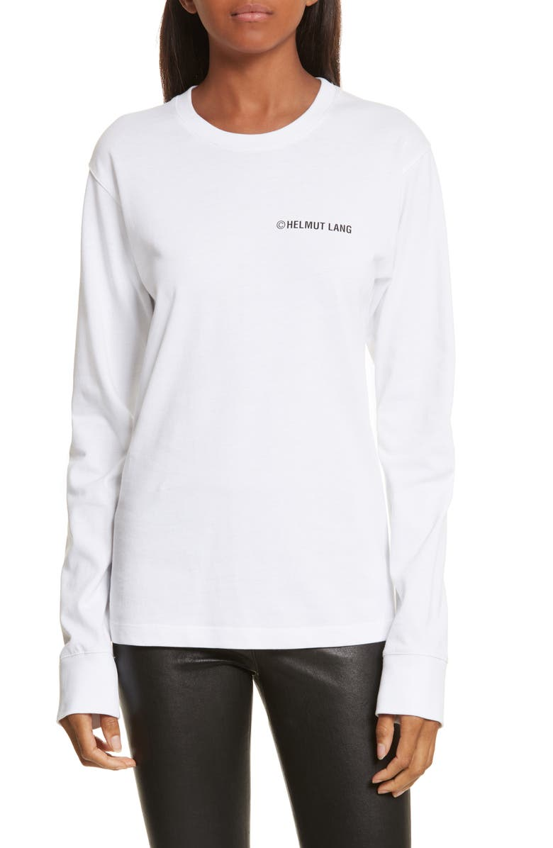 HELMUT LANG Taxi Long Sleeve Tee, Main, color, 100