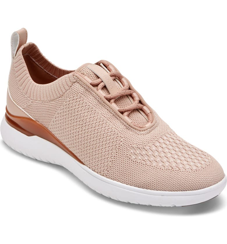 ROCKPORT Total Motion Sport Knit Sneaker, Main, color, PINK KNIT FABRIC