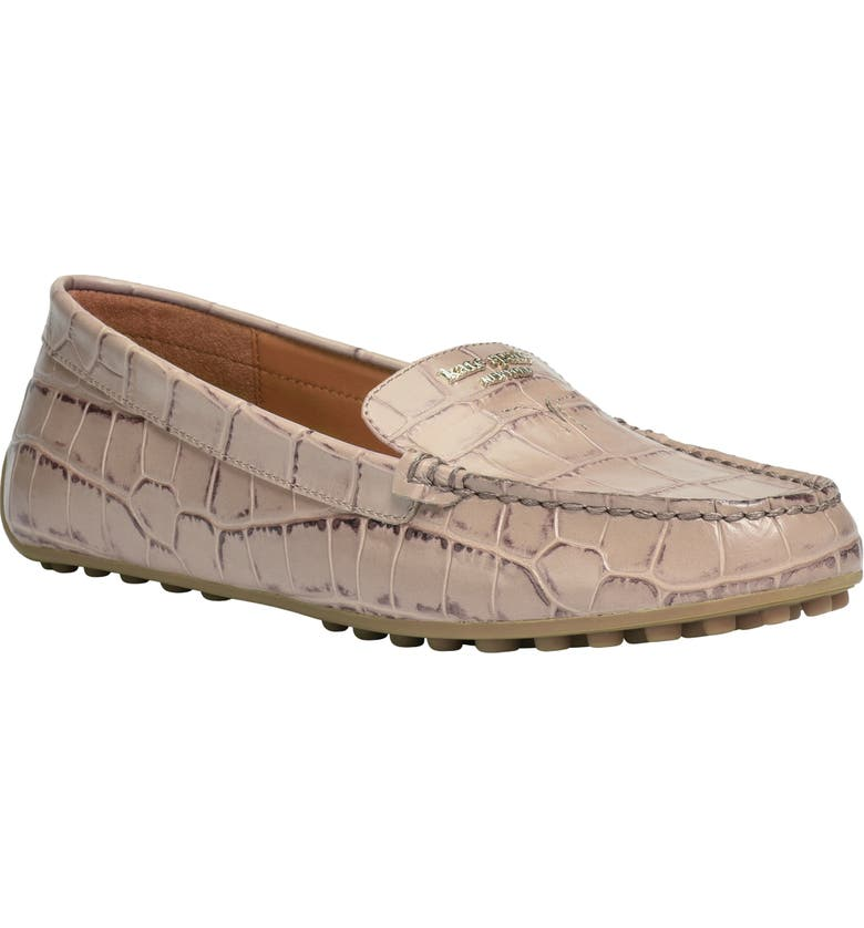 KATE SPADE NEW YORK deck driving loafer, Main, color, LATTE LEATHER