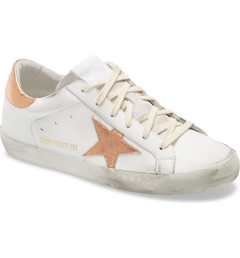 GOLDEN GOOSE Super-Star Low Top Sneaker, Main, color, OPTIC WHITE/ PEACH PINK