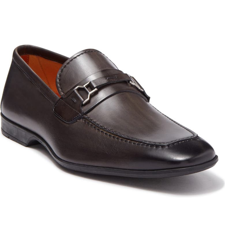 MAGNANNI Chaplin Leather Bit Loafer, Main, color, GREY
