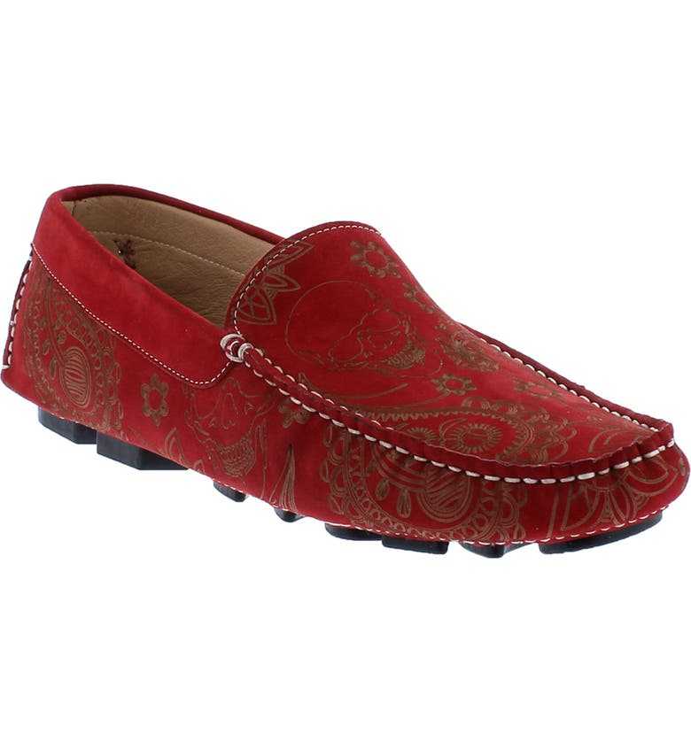 ROBERT GRAHAM Champion Driving Moccasin, Main, color, RED