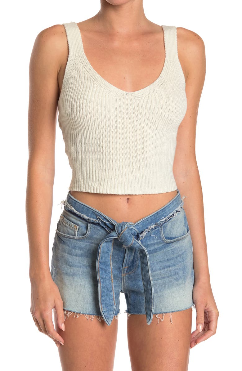 ABOUND Sweater Tank Top, Main, color, IVORY