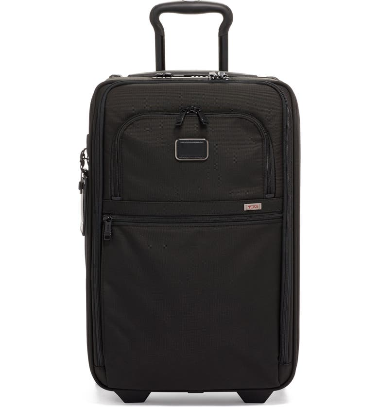 TUMI Alpha 2 Collection 22-Inch International Expandable Wheeled Carry-On, Main, color, BLACK