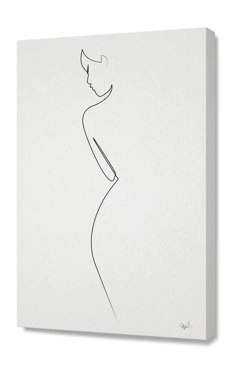 CURIOOS Small One Line Nude by Quibe, Main, color, BLACK