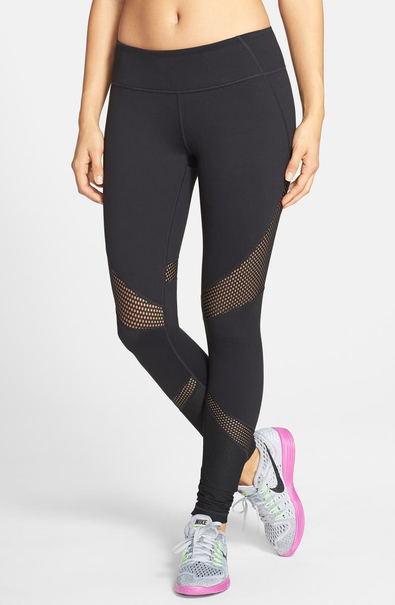 ZELLA 'Live In - Out of Bounds' Slim Fit Leggings, Main, color, 001